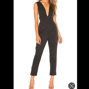 Gloria Deep V Revolve By the Way Jumpsuit Striped